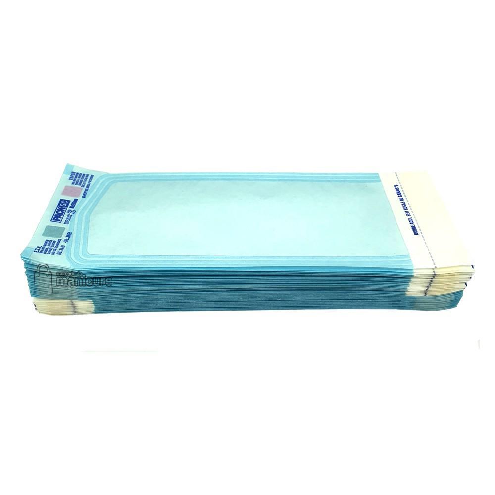 Envelope para autoclave 9cm x 23cm Packgc pacote c/ 100 uni