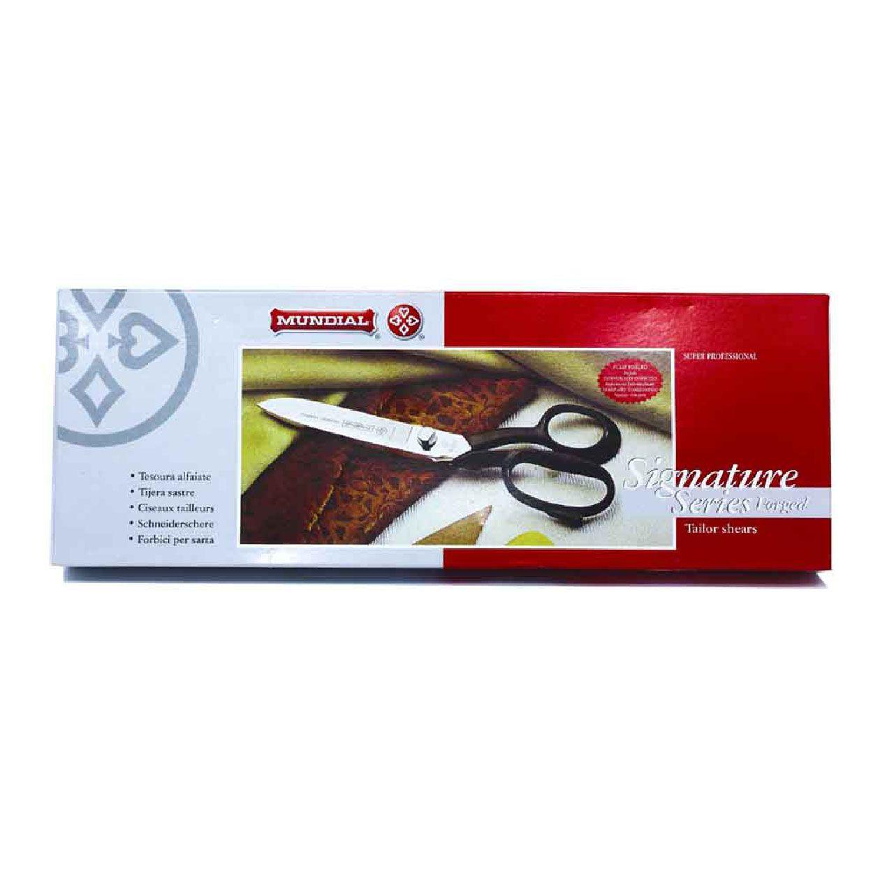 "kit 3 Tesouras de alfaiate Mundial 8"" aço carbono, reforçada, Profissional, Signature Mundial"