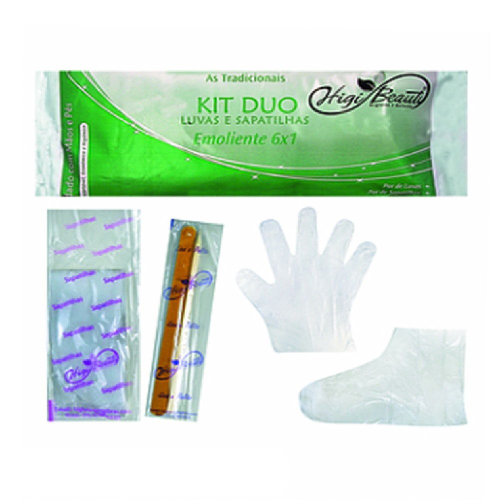 Kit manicure e pedicure descartável com creme Higi Beauty kit duo
