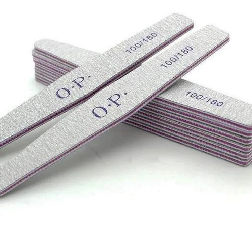 Lixa caixa OPI 100/180 Lavável kit com 6 unidades