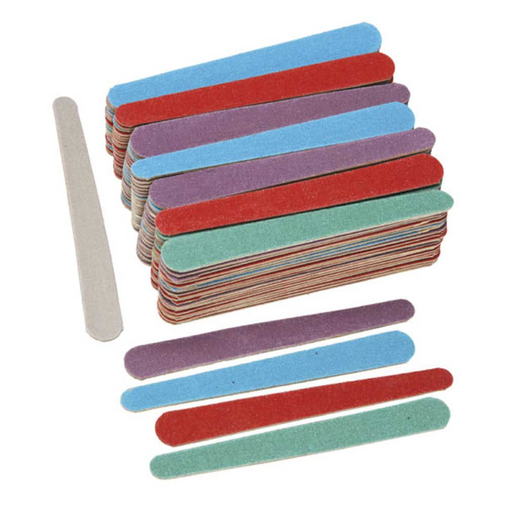 Lixa de unha colorida Santa Clara média 10cm 144 un