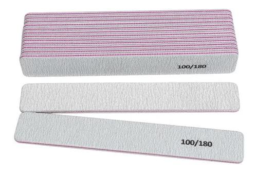 Lixa Reta 100/180 Listra OPI lavável com 6 unidades