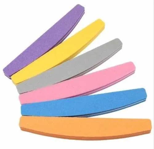 Lixas Bumerangue Para Polir Unha Gel Acrílico 100/180 5 unidades