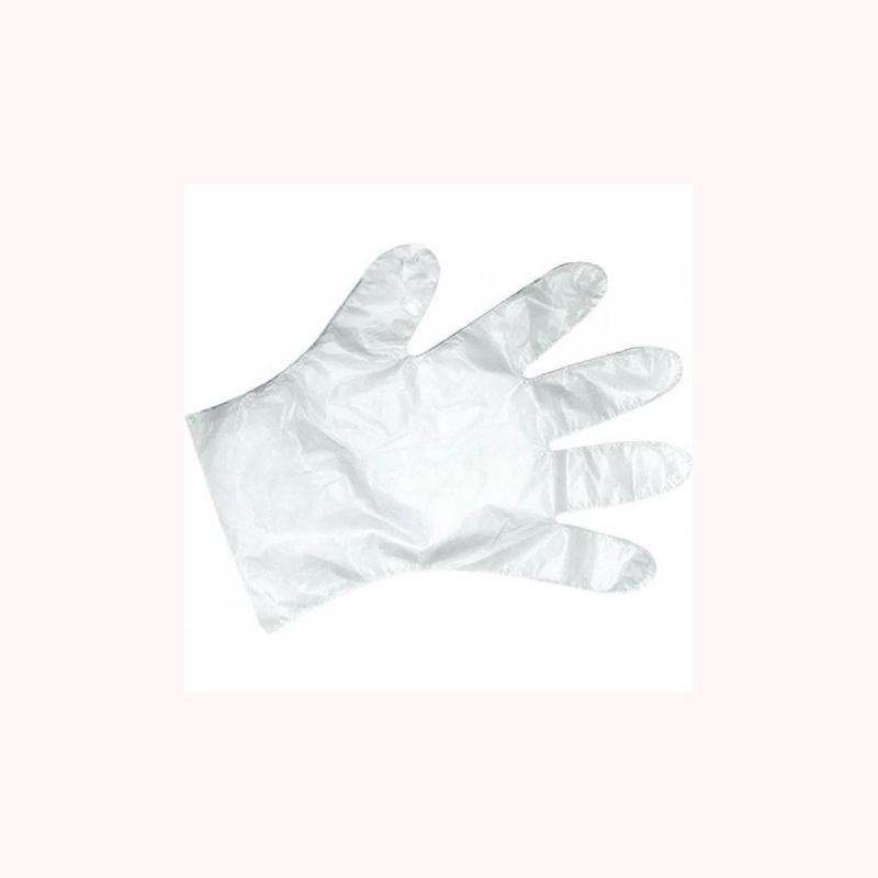 Luvas descartável Santa Clara transparente c/20un