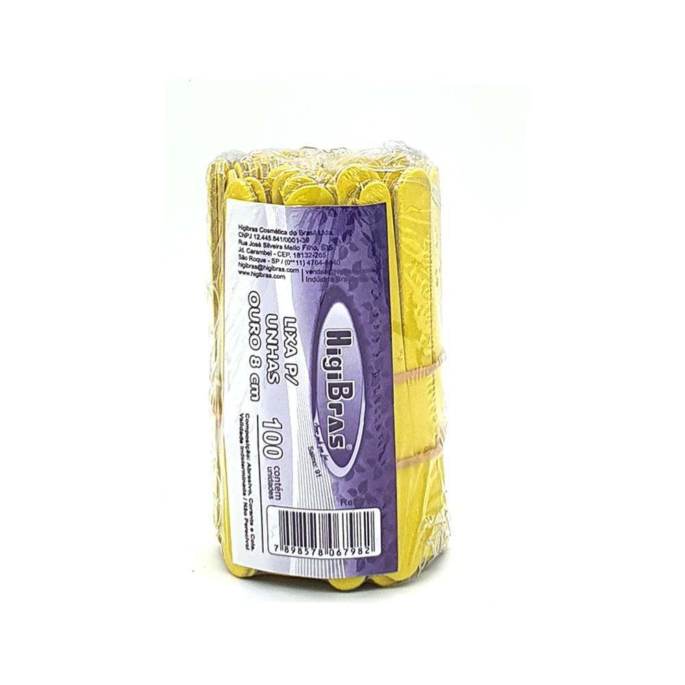 Mini lixa de unha HigiBras 08cm c/100 un