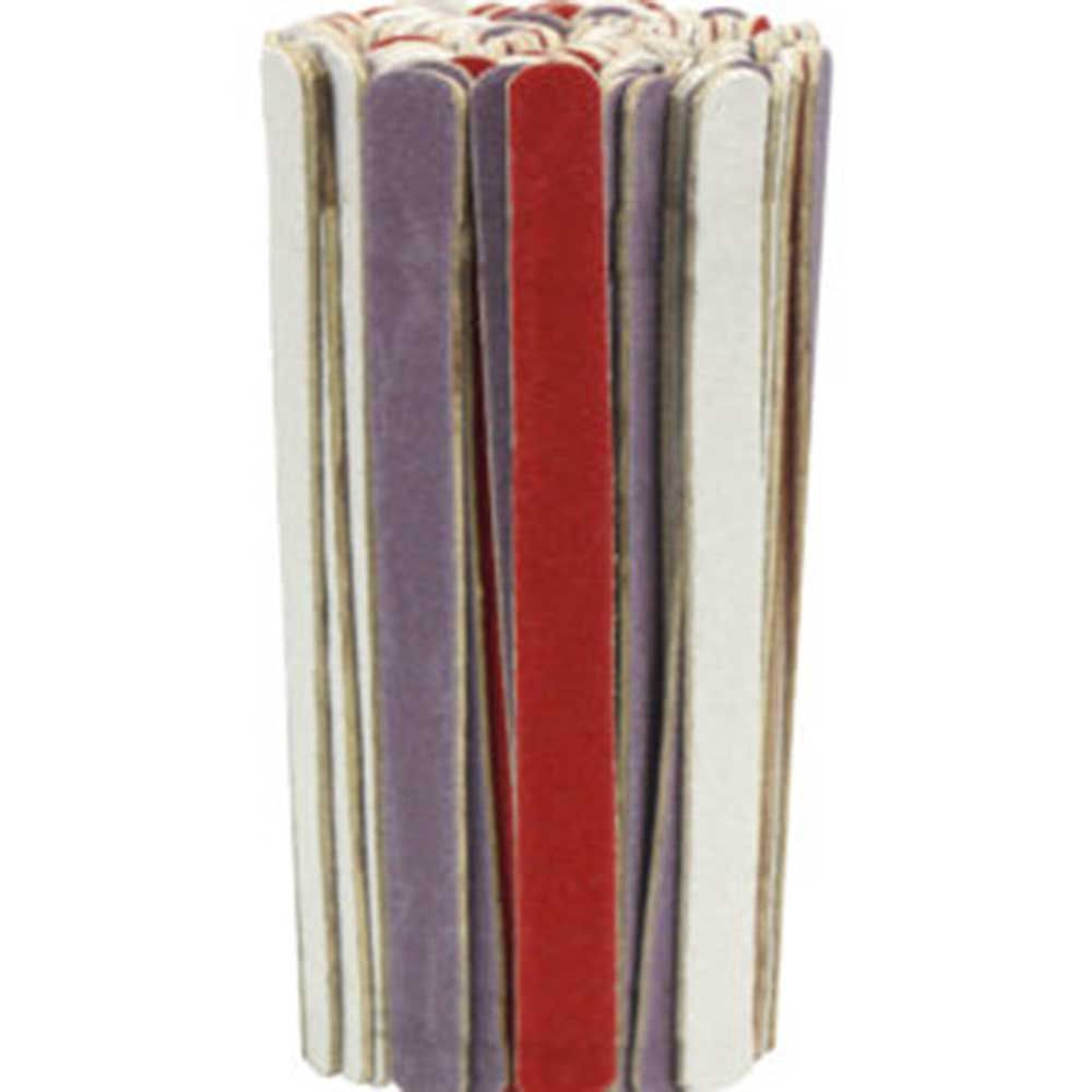 Mini lixa de unha colorida Santa Clara popular 8cm c/ 100 um
