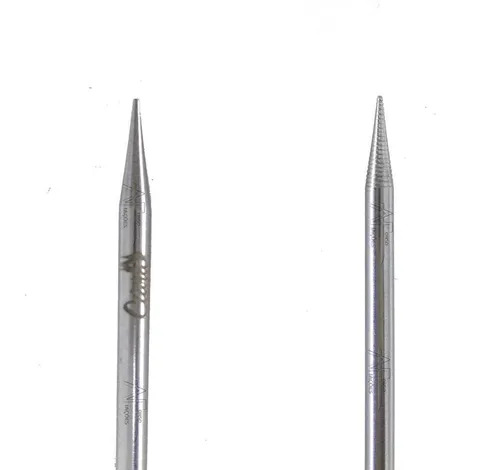 Palito de unha inox Santa Clara 12 cm ref 139 kit c/ 6 un