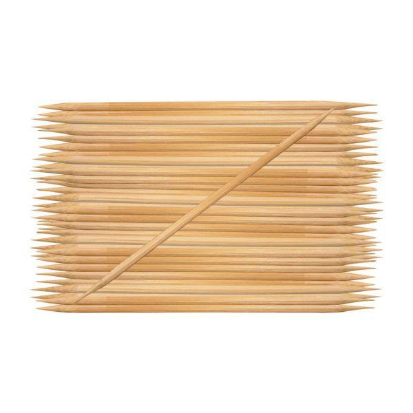 Palito de unha Santa Clara descartável 2 pontas 15cm de Bambu 50 un
