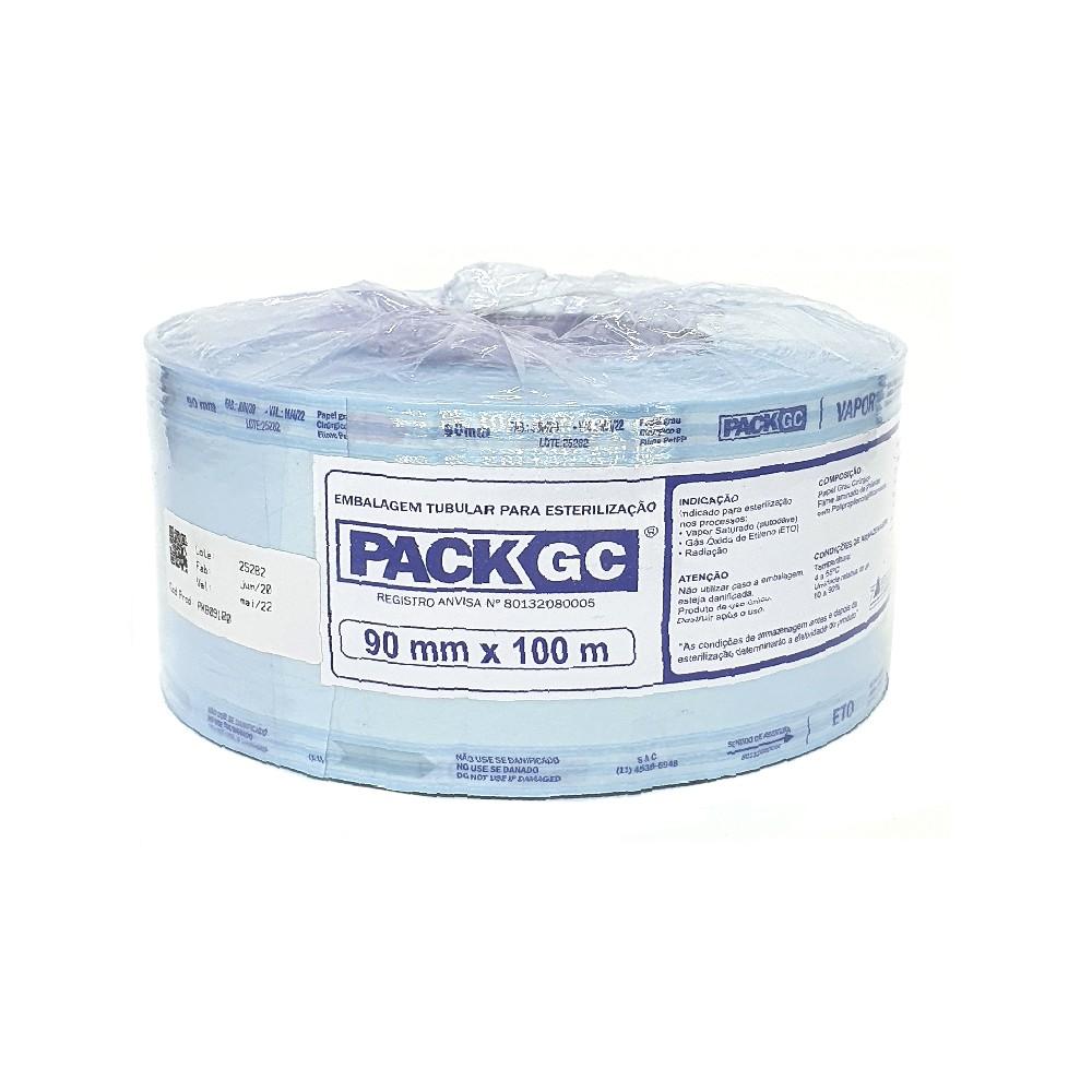 Rolo para esterilização Packgc 9cm x 100 metros