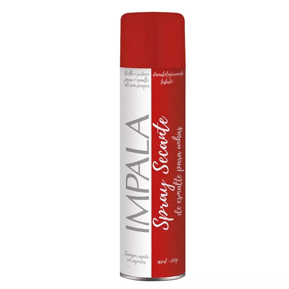Spray secante Impala de esmalte para unhas Impala 400ml.