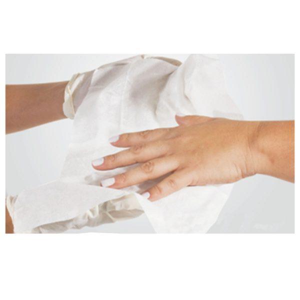 Toalha descartável para manicure Higi Beauty 20x30 cm c/ 100 un.