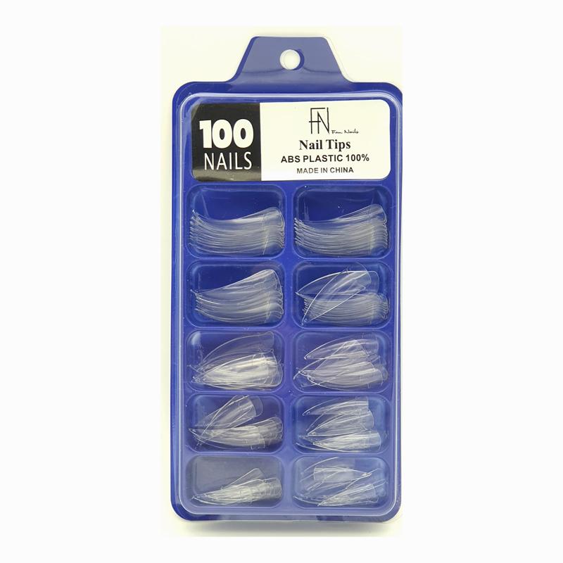 Unha postiça C/100 unidades Nail Tips Abs plastic 100%