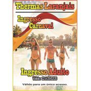 Ingresso Adulto - Carnaval 2020