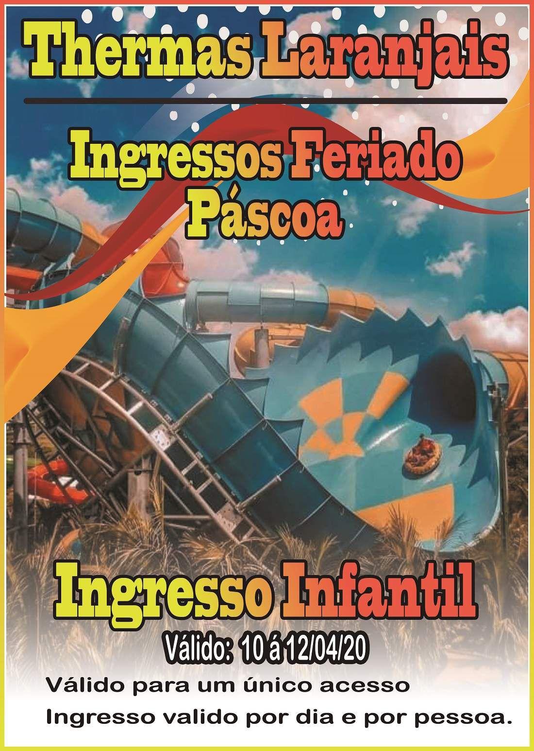 Ingresso Infantil - Pascoa - Thermas dos Laranjais  - Thermas Fácil
