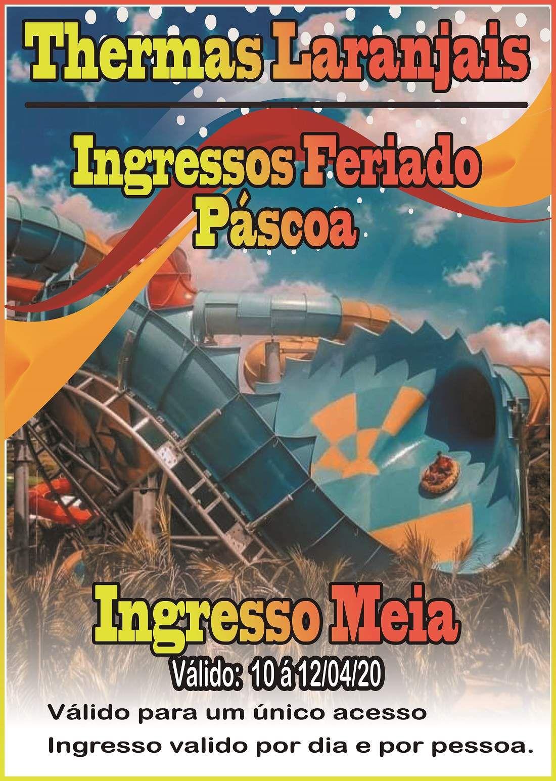 Ingresso Meia - Pascoa - Thermas dos Laranjais  - Thermas Fácil