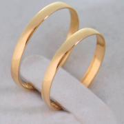 Aliança de Casamento Ouro 10k Tradicional 2mm - A110