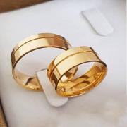 Aliança de Casamento Trabalhada em Ouro 10k 4,5mm - A121