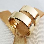 Aliança de Casamento Trabalhada em Ouro 10k 5mm - A119