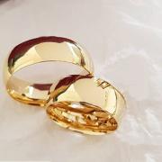 Aliança de Casamento Tradicional em Ouro 10k 7mm - A118