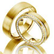 Alianças Noivado e Casamento Ouro Acabamento Liso 7,5mm - A3001