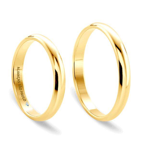 Alianças Casamento Ouro Tradicionais 4mm - A128