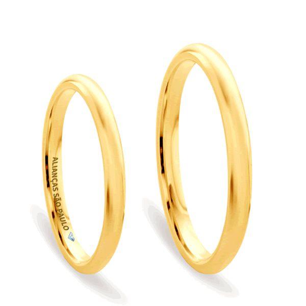 Alianças Baratas Noivado Ouro 3,5mm - A042