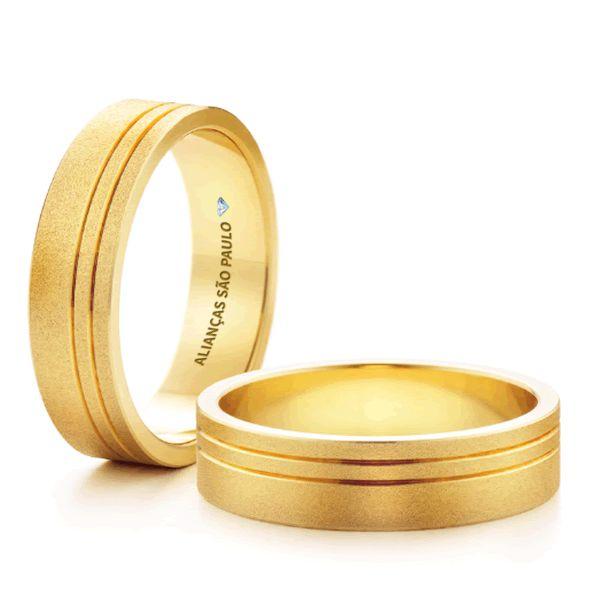 Alianças São Paulo Casamento Ouro Formato Anatômico Baixo 5,5mm - A148