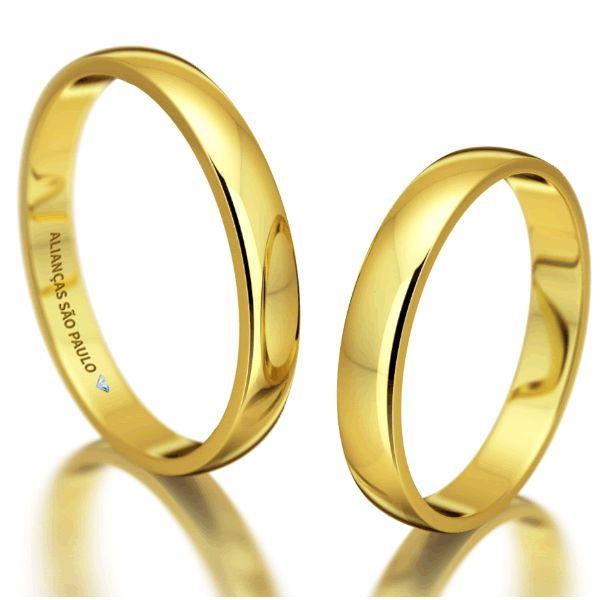 Alianças Noivado Baratas Ouro 4,5mm - A072