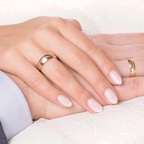 Alianças Casamento Noivado Ouro com Zircônia White 6,5mm - A124