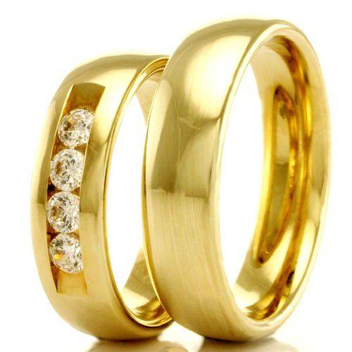 Alianças Casamento e Noivado Ouro Anatômica 5mm - A2317