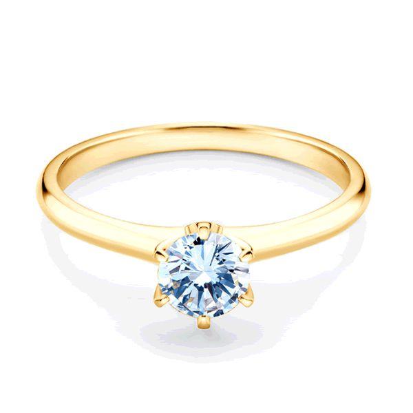 Anel Noivado Ouro com Diamante 2mm - A192