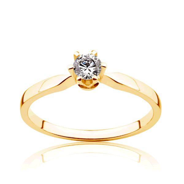 Anel Ouro Noivado com Diamante 2mm - A212