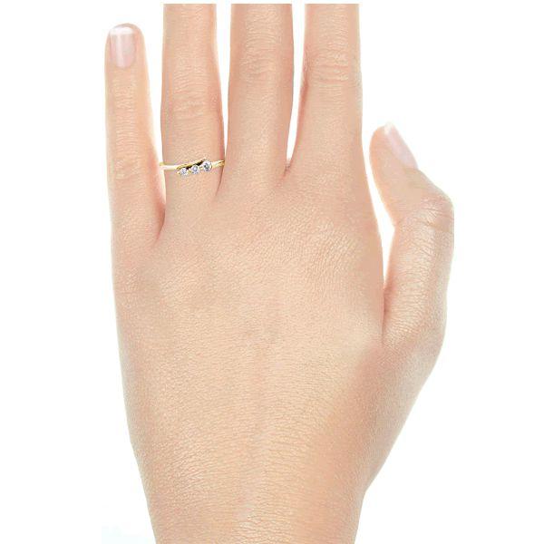 Anel Noivado Ouro Amarelo 18k  2,5mm com Diamantes - A220