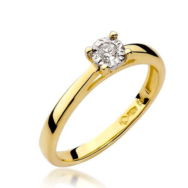 Anel Noivado Ouro 18k 2mm com Diamante - A232