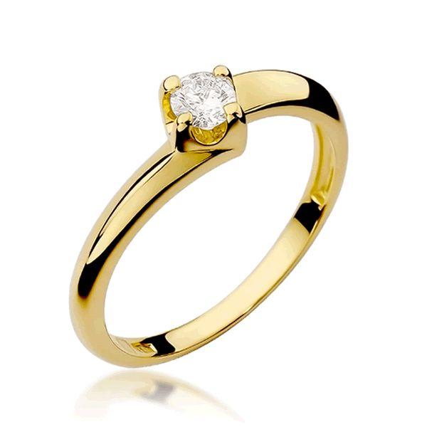 Anel Noivado Ouro 2mm com Diamante - A234