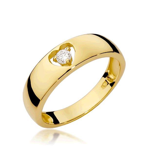Anel Ouro Coração 4mm - A244