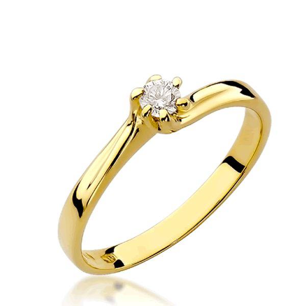 Anel Noivado Ouro 2mm com Diamante - A248