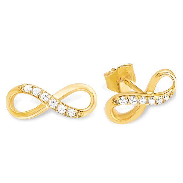 Brincos Ouro Amarelo 18k com Diamantes - A258