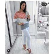 3 Blusas De Frio Moda Feminina Atacado Monte Sião KT329