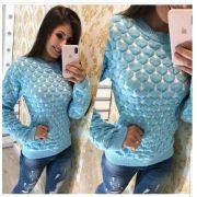 6 Blusas Tricot Suéter De Lã Malha Inverno Atacado Wp0 KT355