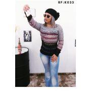 Blusa de frio Atacado Malha inverno Feminina Promoção K177