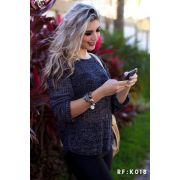 Blusa Tricot blogueira Inverno Malha Feminina Atacado K121