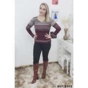 Blusas de frio Tricot Atacado Malha Feminina Promoção K179