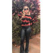 Blusas De frio Tricot  suéter de lã cardigan moda blogueira K175