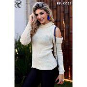 Blusas Tricot Feminina Inverno Barato Suéter K171