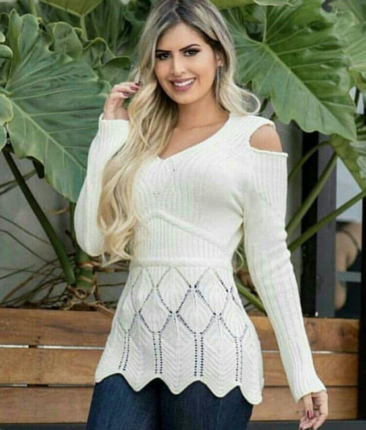af06f4071 Todos os produtos - - Marca: Loja Do Tricô - Modelo: blusas de frio  feminina atacado suéter de tricot cardigan inverno lançamento malha de tricô  e lã cas ...