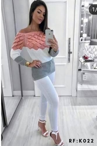 3 Blusas Lã Suéter Fabrica De Malhas Monte Sião H0 Ftock KT369