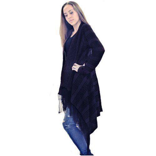 4 Kimono Colete Franja Malha Trico Malha De Frio Sueter A0 - KT457