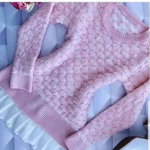 5 Blusa Suéter Tricot Soft |coração 3d|malha Cardigan KT395