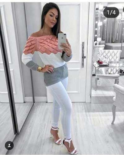 6 Blusas Promoção Tricot Inverno Atacado Feminina revenda KT267